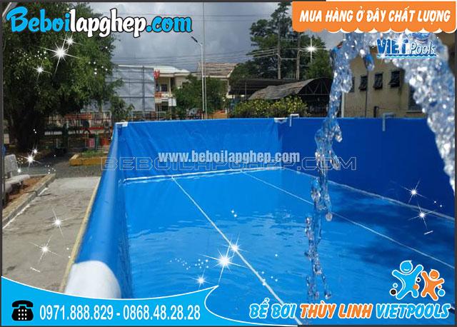 bể bơi di động lắp ghép tại Khánh Hóa
