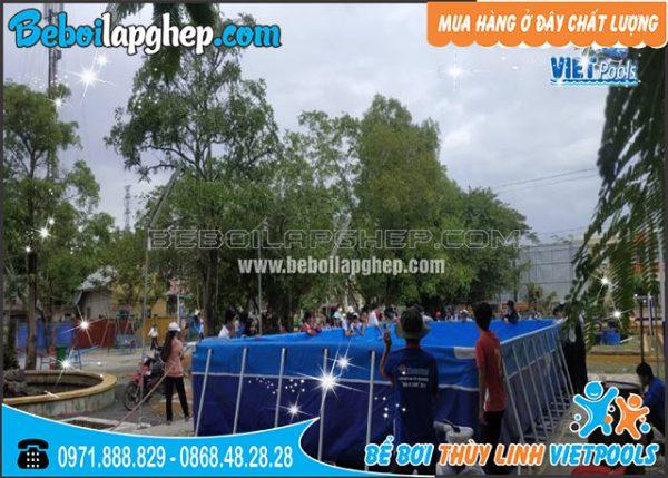 bể bơi di động lắp ghép tại Khánh Hòa