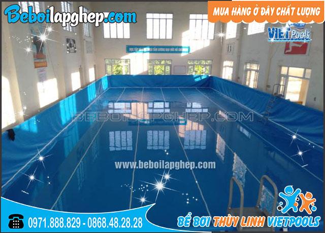 Bể Bơi Lắp Ghép Khung Kim Loại 9,6m x 20,1m