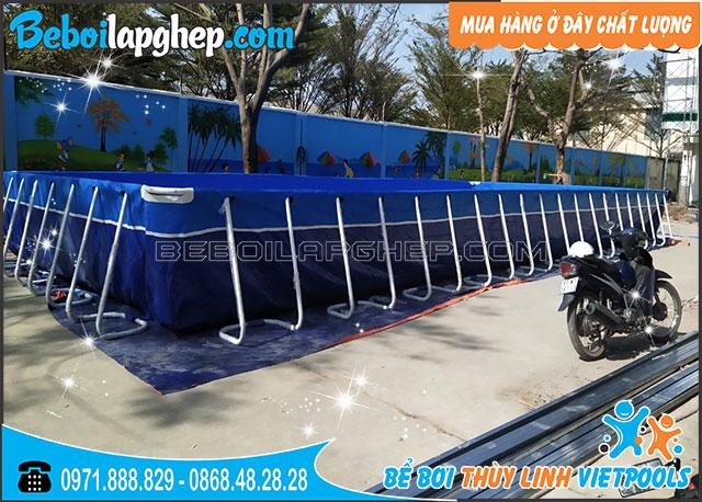 Bể Bơi Lắp Ghép Trường Học 6,6m x 18,6m