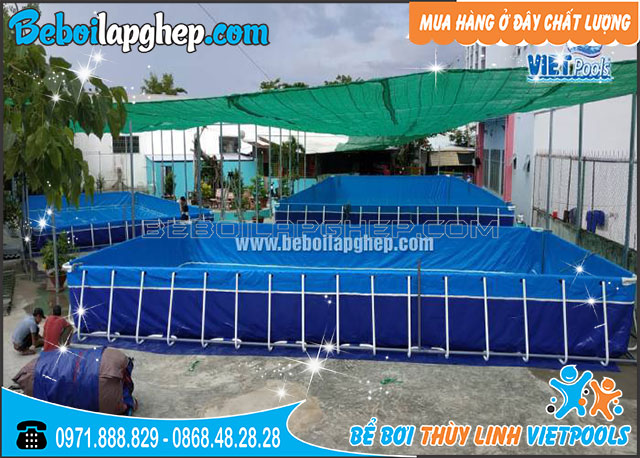 Bể Bơi Lắp Ghép Thông Minh 9.6m x 17.1m