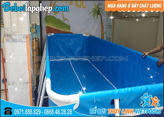 Bể Bơi Di Động Lắp Ghép KT 2.1m x 5.1m x 1m