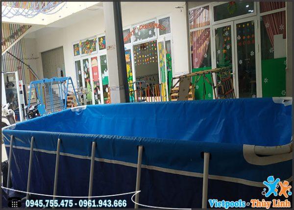 bể bơi di động lắp ghép kt 2.1m x 5.1m