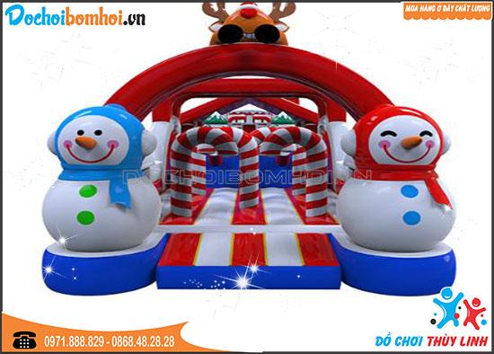 Nhà Phao Địa Hình Người Tuyết 25m x 4m x 4m