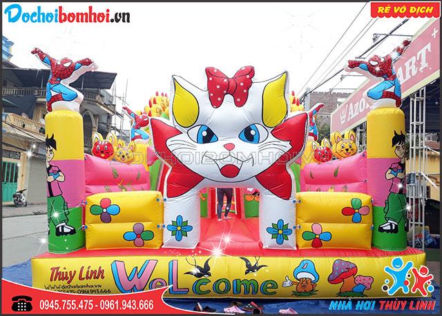 Nhà Hơi Nhún Mèo Xinh Đáng Yêu Cho Bé 5m x 10m