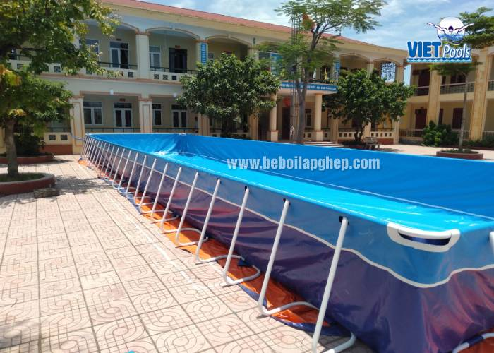 Bể Bơi Lắp Ghép Dạy Bơi Trường Học 5.1m x 18.6m