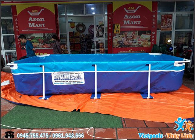 Bể Bơi Thông Minh Mini Gia Đình 4m x 2,11m