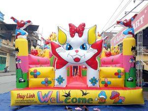 Nhà Bơm Hơi Lâu Đài Mèo Máy Doremon 5m x 8m 1