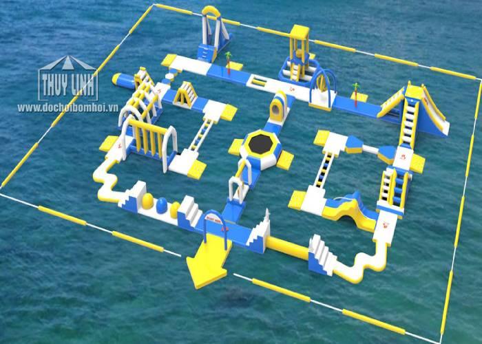 Mô Hình Bơm Hơi Dưới Nước 40m x 25m
