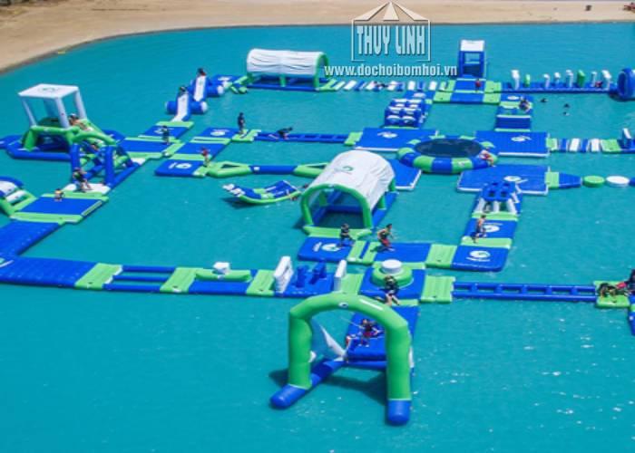 Công Viên Bơm Hơi Liên Hoàn Dưới Nước 55m x 45m