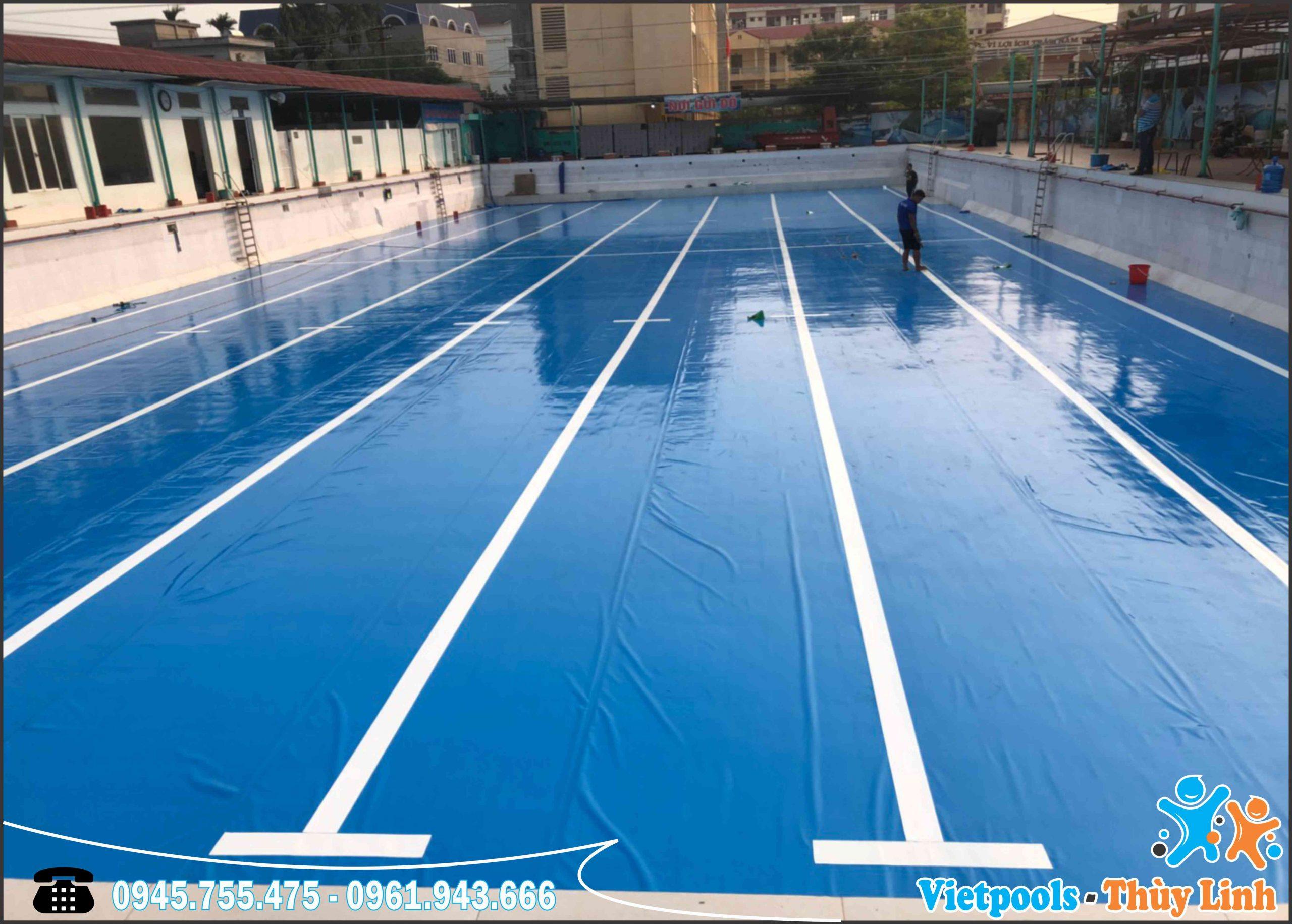 hồ bơi trải bạt pvc 2020