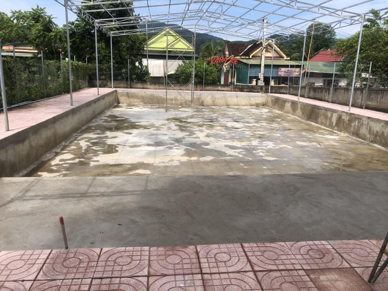 hồ bơi trải bạt pvc