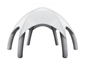 lều bơm hơi mái vòm màu trắng