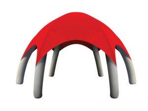 lều bơm hơi mái vòm màu đỏ