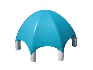 lều bơm hơi mái vòm màu xanh