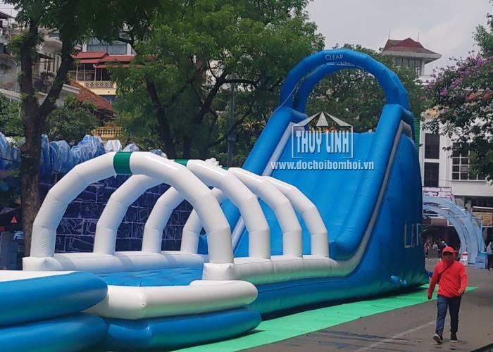 Nhà Phao Trượt Nước Clear 5m x 22m