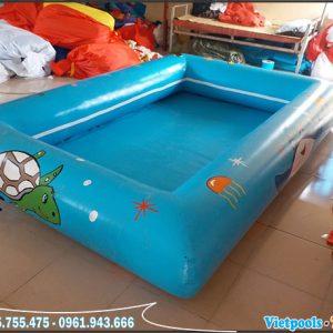 Bể Bơi Bạt Bơm Hơi 4m x 4m x 0,4m 4