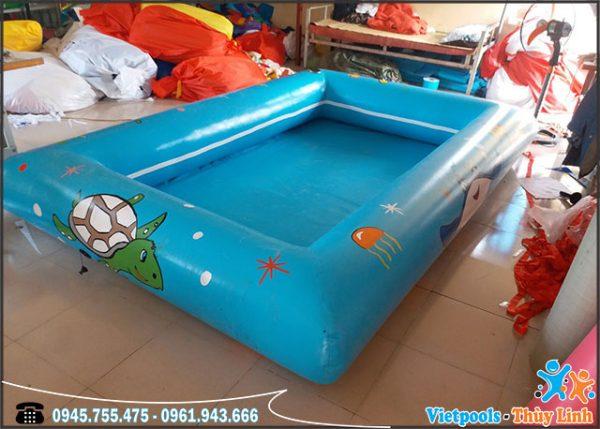 Bể Bơi Bạt Bơm Hơi 4m x 4m x 0,4m 1