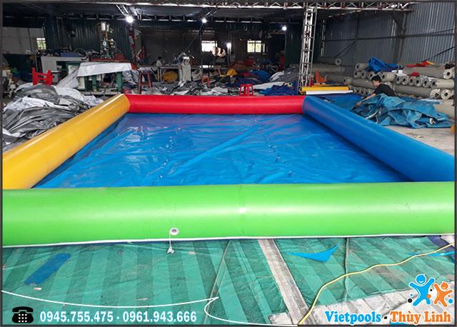 Bể Bơi Bạt Bơm Hơi 4m x 4m x 0,4m
