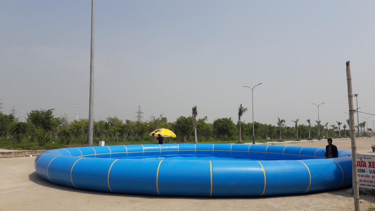 Hồ Phao Tròn Bơm Hơi Thùy Linh 2020 Đường Kính 10m
