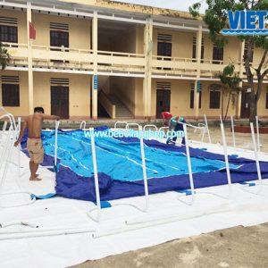 bể bơi dạy bơi trường học