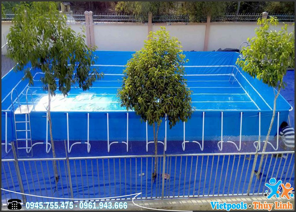 Sản Xuất Bể Bơi Di Động Khung Kim Loại Giá Sốc 2020 1