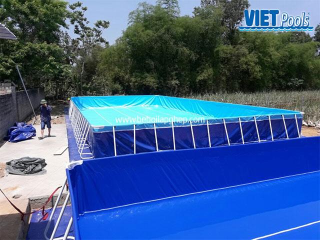 Hồ Bơi Lắp Ghép Thông Minh 11,1m x 20,1m