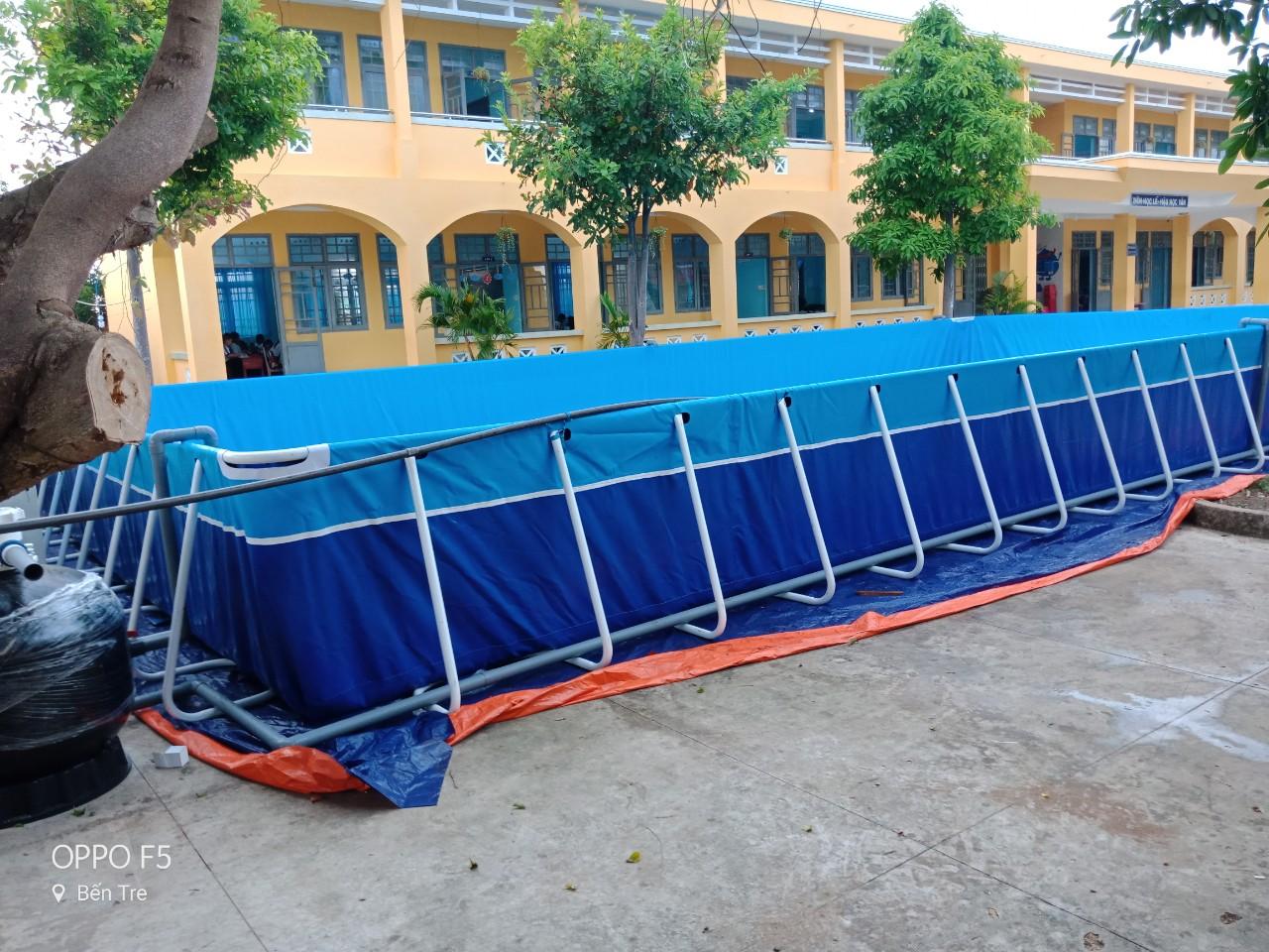 Bể Bơi Khung Kim Loại Thông Minh 9,6m x 15,6m