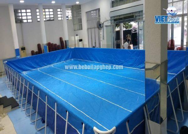 bể bơi lắp ghép khung thép