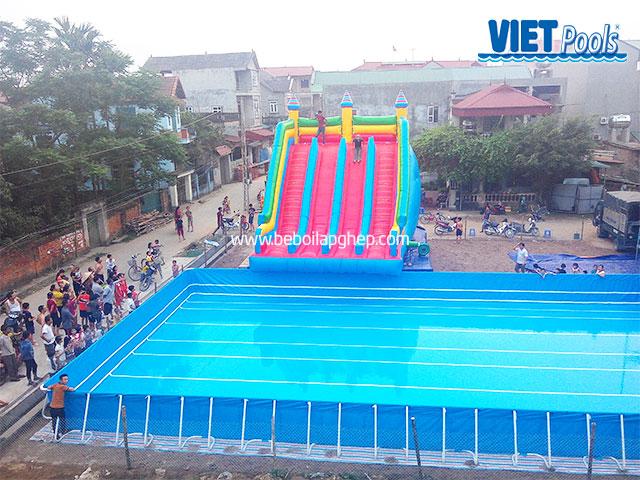 Bể Bơi Lắp Ghép Di Động Vietpools Cỡ Lớn 12,6m x 27,6m