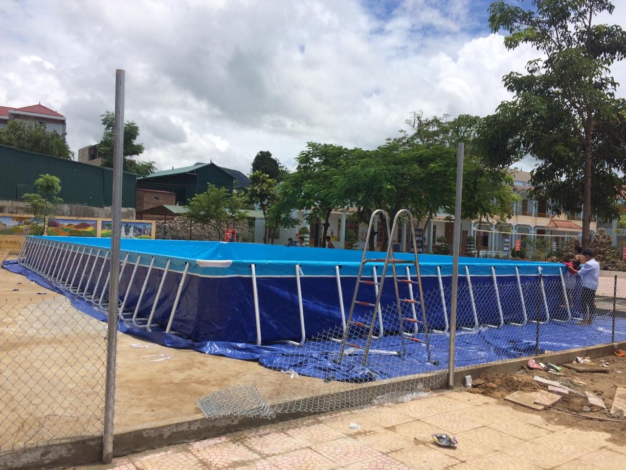 Bể Bơi Lắp Ghép Thông Minh 9,6m x 23,1m