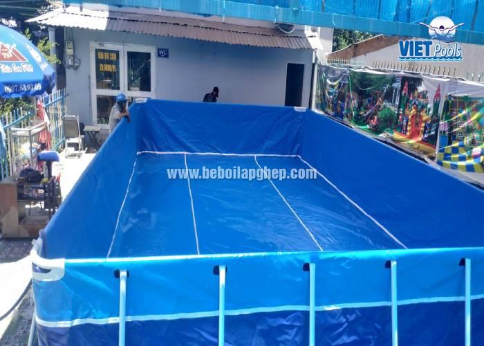 Bể Bơi Khung Kim Loại Lắp Ghép 5,1m x 9,6m