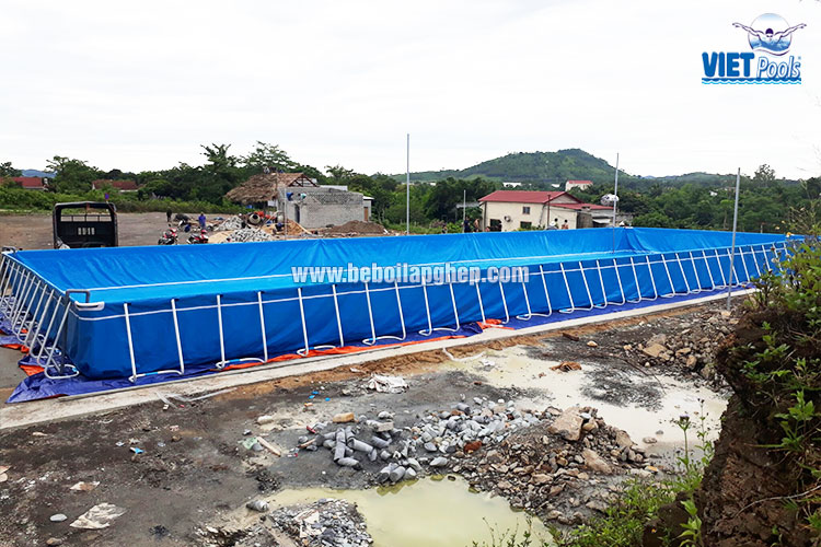 Bể Bơi Thông Minh Lắp Ghép Vietpools 9,6m x 27,6m