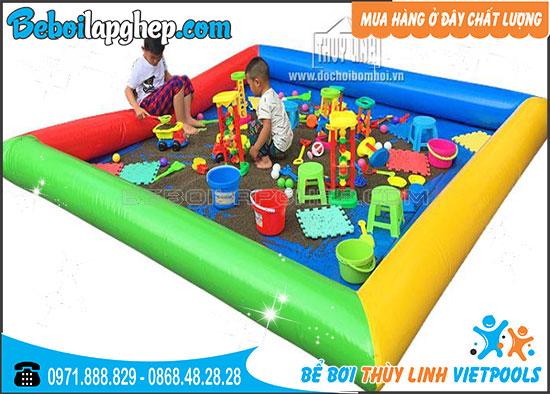 Bể Bơi Xúc Cát Cho Bé 3m x 3m x 0.3m