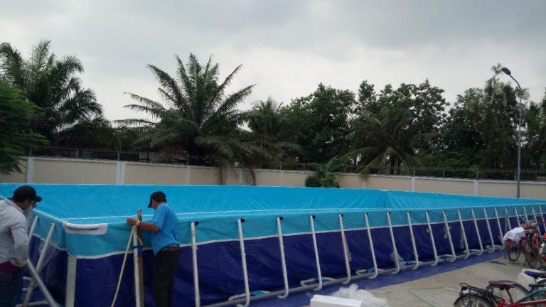 Hồ Bơi Lắp Ghép Trường Học Vietpools 9,6m x 24,6m