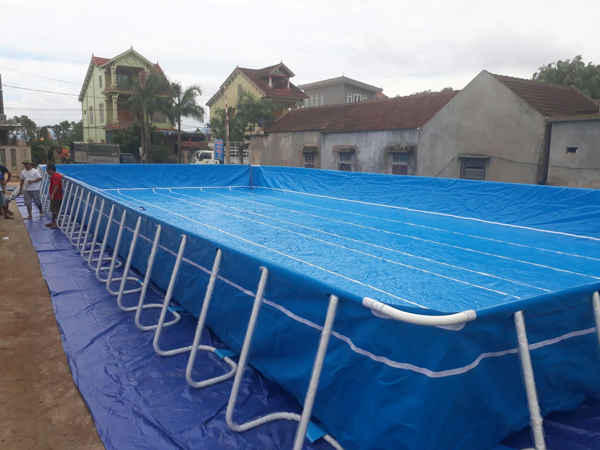 Hồ Bơi Lắp Ghép Thông Minh 11,1m x 21,6m