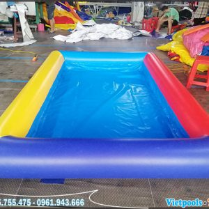Bể Bơi Bạt Bơm Hơi 4m x 4m x 0,4m 6