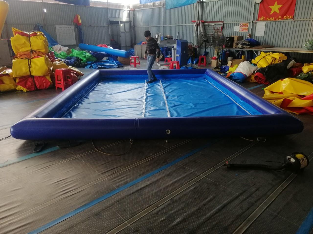 Bể Phao Bơm Hơi Đẹp Cho Bé 4m x 6m x 0,4m