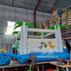 Nhà Hơi Mini Cây Dừa Cho Bé 3,15m x 4m 2