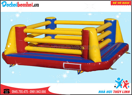Nhà Hơi Thể Thao Vòng Boxing Bơm Hơi 5,5m x 5,5m x 2,4m