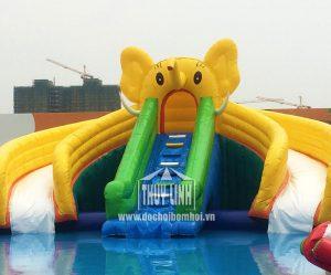 nhà hơi trượt nước voi vàng