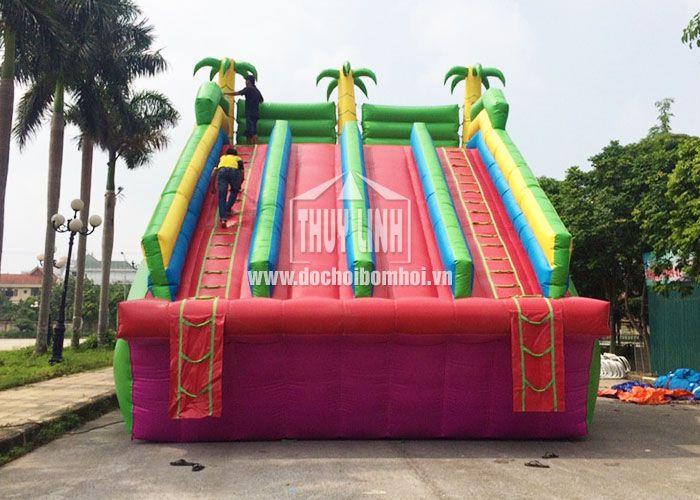 Nhà Hơi Trượt Nước Thùy Linh 6,2m x 8m