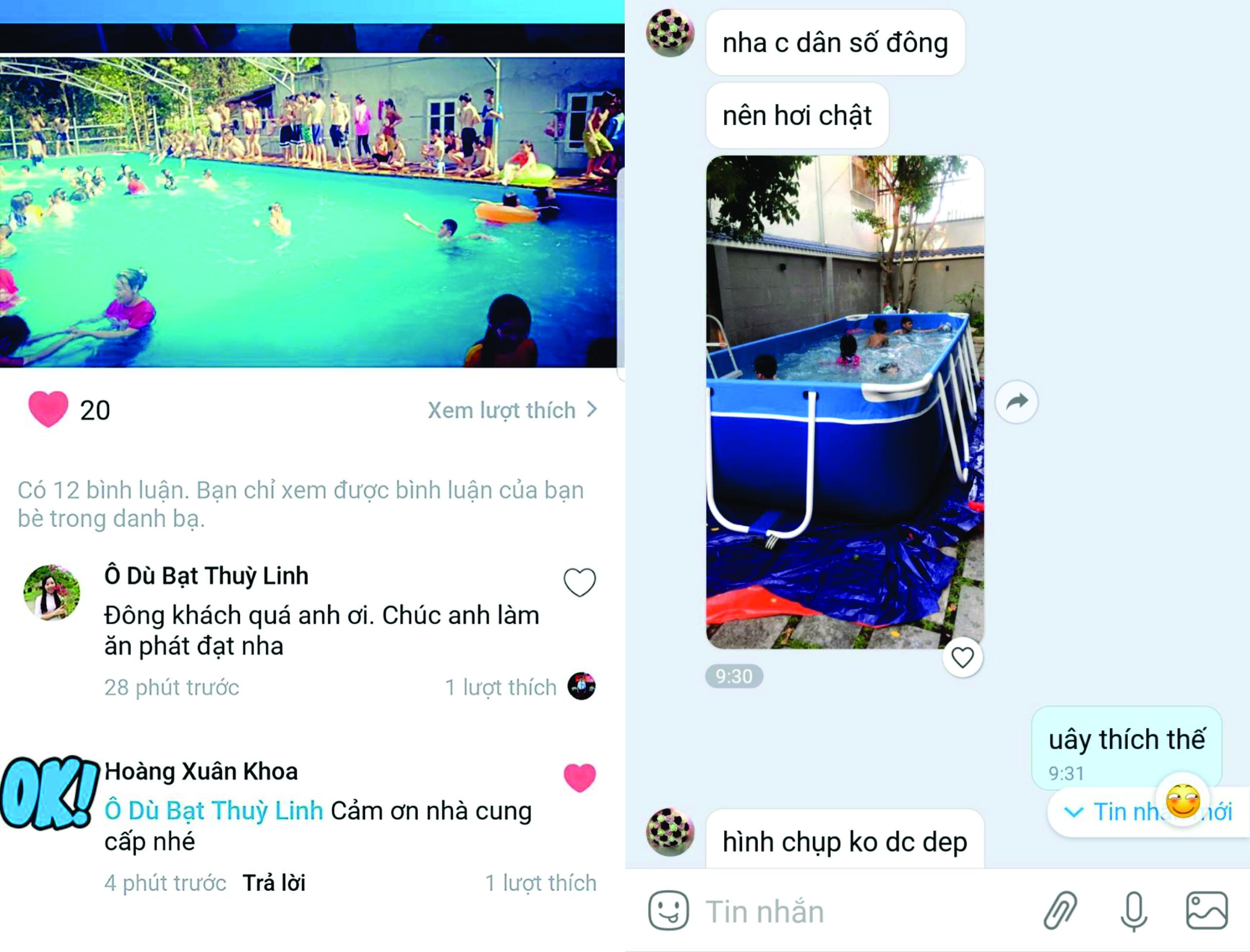 feedback khác hàng đã sử dụng bể bơi di động lắp ghép