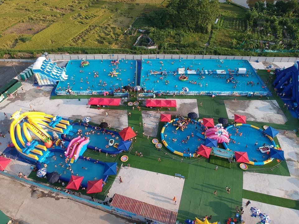 Sản Xuất Bể Bơi Di Động Khung Kim Loại Giá Sốc 2020 4