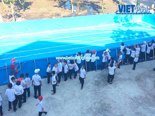 Sản Xuất Bể Bơi Khung Kim Loại Di Động Giá Sốc 2020 2