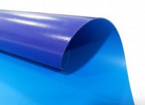 bạt nhựa PVC màu xanh 2 mặt