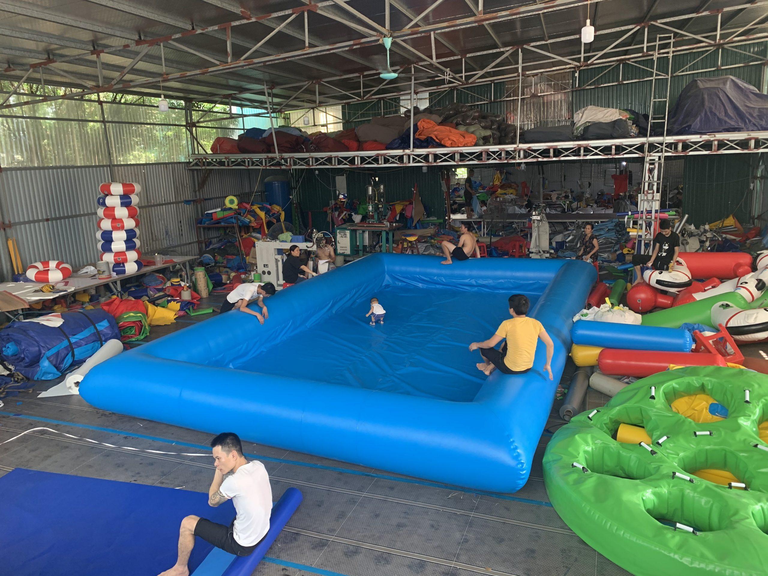 Bể Bơi Vuông Bơm Hơi 5m x 8m