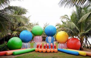 đồ chơi team building - bóng bơm hơi