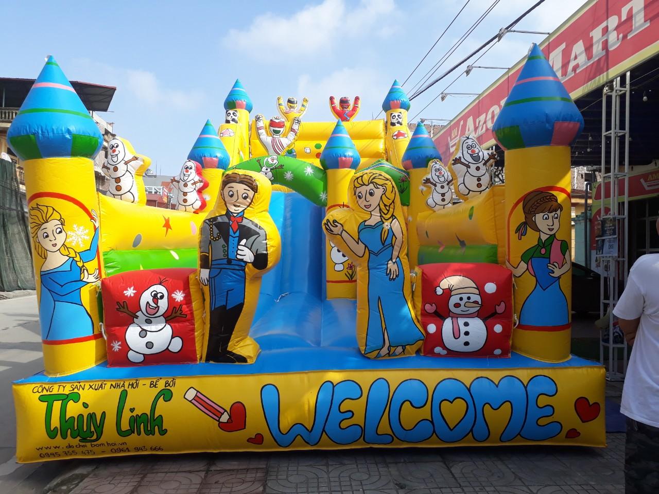 Nhà Phao Bơm Hơi Công Chúa Elsa 4.2m x 8m