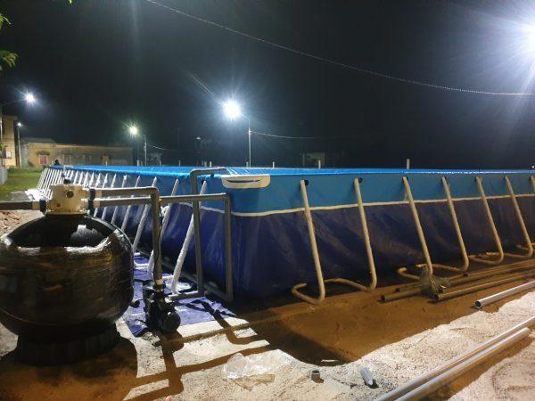 Bể Bơi Lắp Ghép Thông Minh 9,6m x 20,1m x 1,2m 1